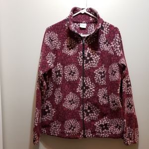 Rare Columbia Berry Floral Fleece Jacket Sz Large